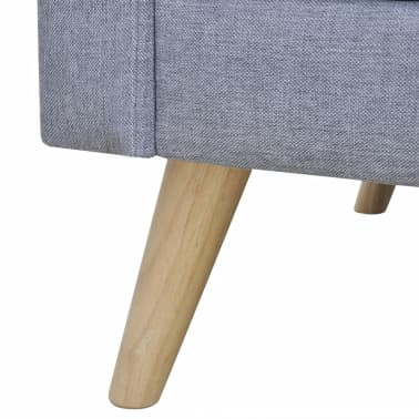 vidaXL 3-Seater Sofa Light Gray[4/4]