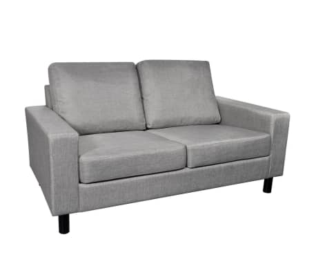 vidaXL 2-Seater Sofa Light Gray[2/5]