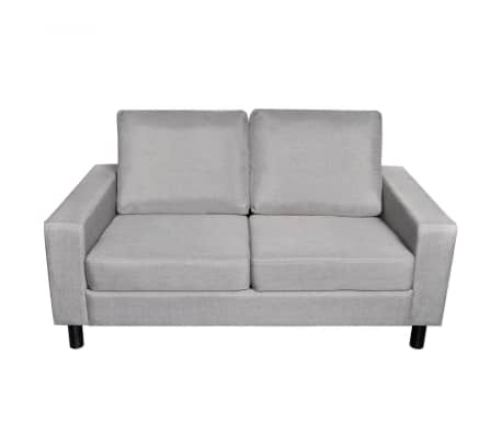 VidaXL 2 3 Seater Sofa Couch Seats Living Room Seating Wooden Frame