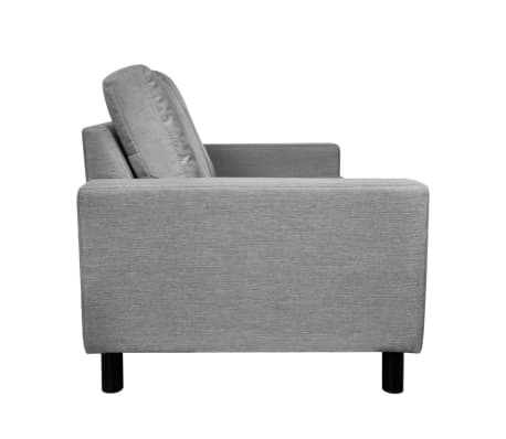 vidaXL 2-Seater Sofa Light Gray[4/5]