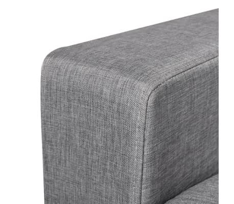 vidaXL 2-Seater Sofa Light Gray[5/5]
