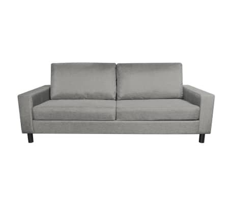 vidaXL 3-Seater Sofa Light Gray[3/5]
