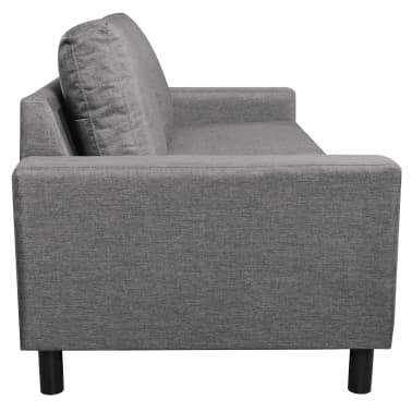 vidaXL 3-Seater Sofa Light Gray[4/5]