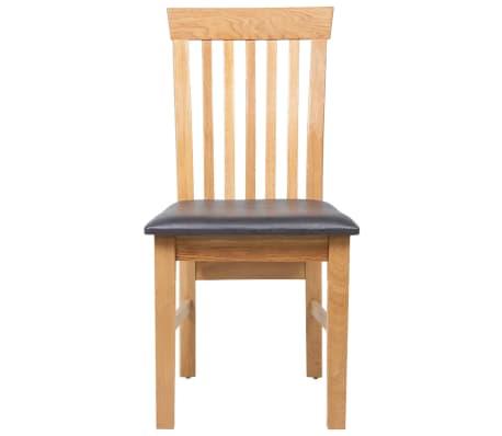 vidaXL Chaises de salle à manger Bois de chêne 2 pcs Cuir artificiel