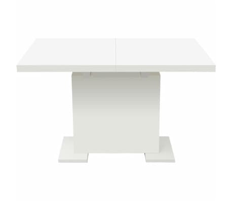 vidaXL Extendable Dining Table High Gloss White[5/8]