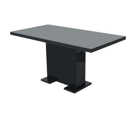 vidaXL Extendable Dining Table High Gloss Black