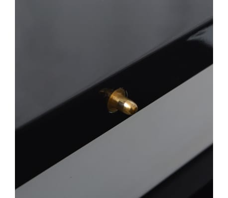 vidaXL Extendable Dining Table High Gloss Black[6/8]