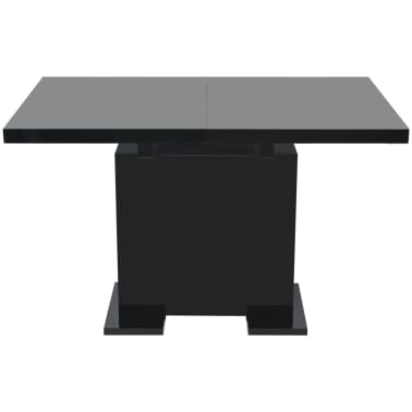 vidaXL Extendable Dining Table High Gloss Black[5/8]