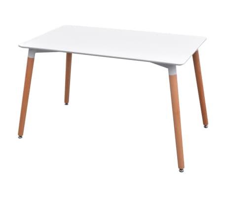 vidaxl 7 teilige essgruppe tisch st hle wei und hellgrau g nstig kaufen. Black Bedroom Furniture Sets. Home Design Ideas