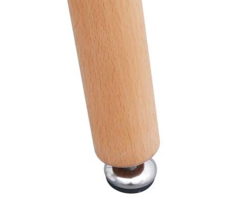 VidaXL Sedmodijelni Set Stol i Stolice za Blagovaonicu Bijela i Siva boja[6/9]