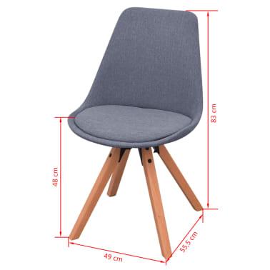 VidaXL Sedmodijelni Set Stol i Stolice za Blagovaonicu Bijela i Siva boja[9/9]