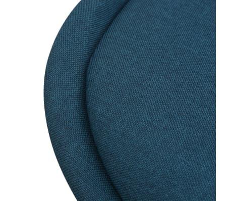 vidaXL 7 dalių valgomojo stalo ir kėdžių komplektas, balta ir mėlyna[7/9]