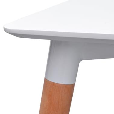 vidaXL 7 dalių valgomojo stalo ir kėdžių komplektas, balta ir mėlyna[4/9]