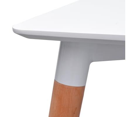 VidaXL 5-Dijelni Blagovaonski Set Stol i Stolice Bijeli i Svijetlo Sivi[4/9]