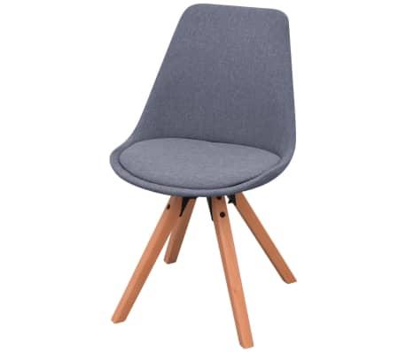 vidaxl 5 teilige essgruppe tisch st hle wei und hellgrau g nstig kaufen. Black Bedroom Furniture Sets. Home Design Ideas