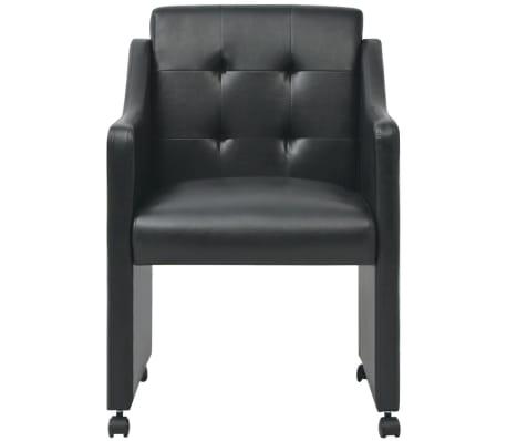 vidaXL Valgomojo kėdės, 2 vnt., juodos, 59x57,5x86,5 cm[3/7]