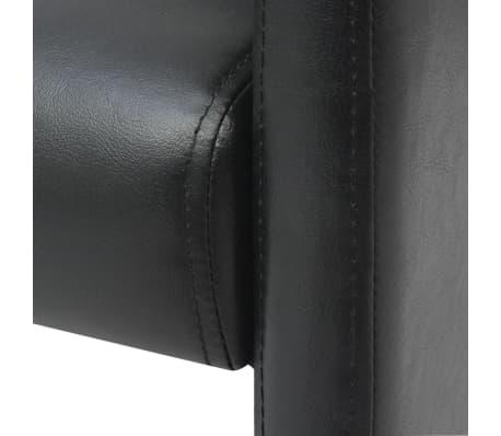 vidaXL Valgomojo kėdės, 2 vnt., juodos, 59x57,5x86,5 cm[5/7]