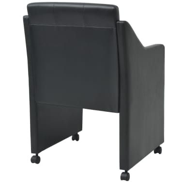 vidaXL Valgomojo kėdės, 2 vnt., juodos, 59x57,5x86,5 cm[4/7]