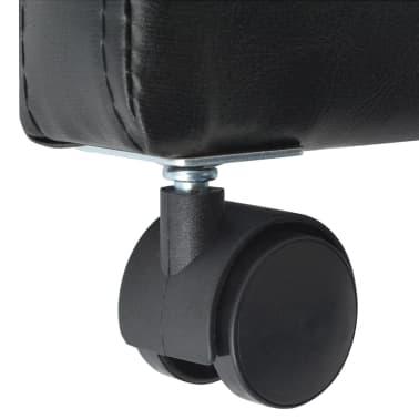 vidaXL Valgomojo kėdės, 2 vnt., juodos, 59x57,5x86,5 cm[6/7]