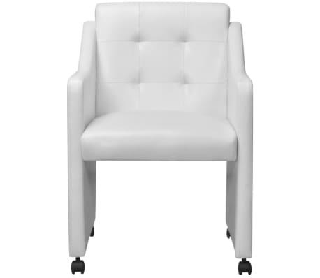 vidaXL Valgomojo kėdės, 2 vnt., baltos, 59x57,5x86,5 cm[3/7]