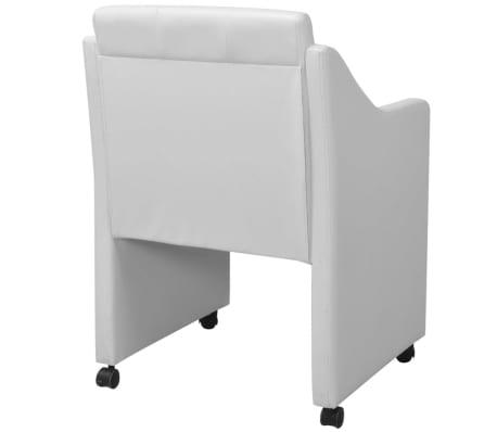 vidaXL Valgomojo kėdės, 2 vnt., baltos, 59x57,5x86,5 cm[4/7]