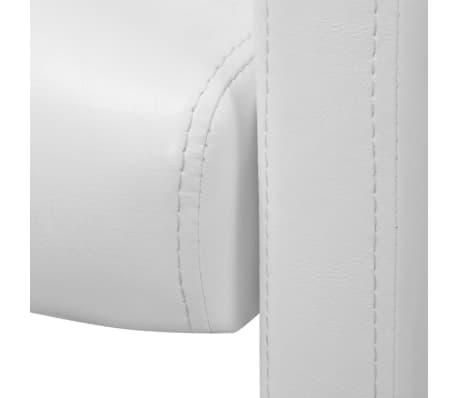 vidaXL Valgomojo kėdės, 2 vnt., baltos, 59x57,5x86,5 cm[5/7]