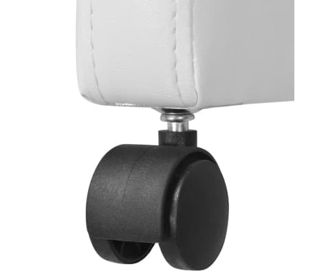 vidaXL Valgomojo kėdės, 2 vnt., baltos, 59x57,5x86,5 cm[6/7]