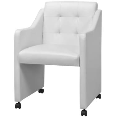 vidaXL Valgomojo kėdės, 2 vnt., baltos, 59x57,5x86,5 cm[2/7]