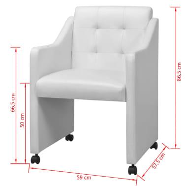 vidaXL Valgomojo kėdės, 2 vnt., baltos, 59x57,5x86,5 cm[7/7]