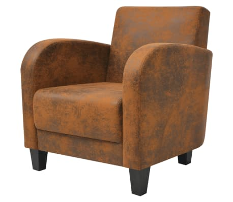 vidaXL Armchair Brown 73x72x76 cm[2/5]