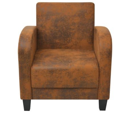 vidaXL barna fotel 73x72x76 cm[3/5]