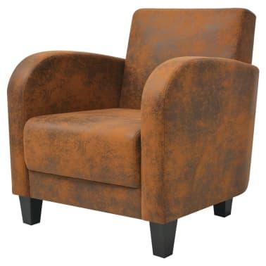 vidaXL barna fotel 73x72x76 cm[2/5]
