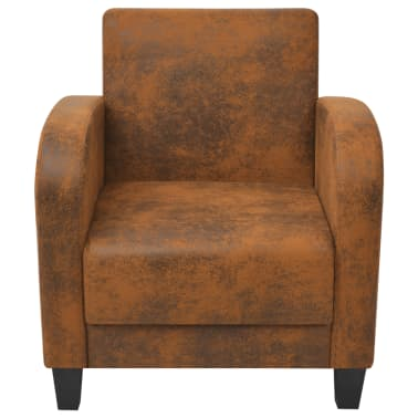 vidaXL Armchair Brown 73x72x76 cm[3/5]