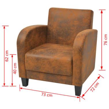 vidaXL barna fotel 73x72x76 cm[5/5]