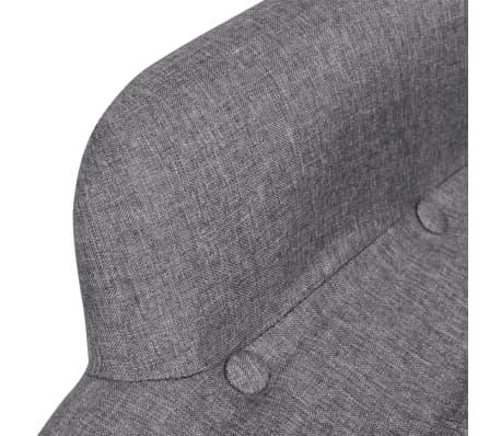 vidaXL Armchair with Footstool Gray Fabric[3/5]