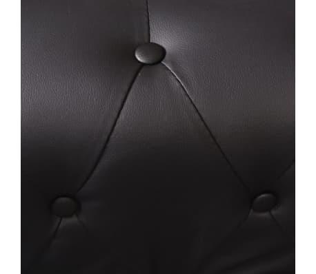 vidaXL Chesterfield penkiavietė sofa, dirbtinė oda, juoda[6/7]