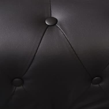 vidaxl chesterfield sofa 5 sitzer kunstleder schwarz. Black Bedroom Furniture Sets. Home Design Ideas