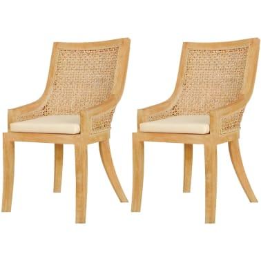 vidaXL Dining Chairs 2 pcs Rattan[1/4]