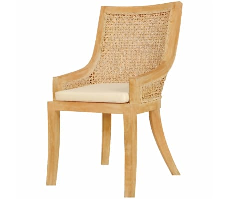 vidaXL Dining Chairs 2 pcs Rattan[2/4]