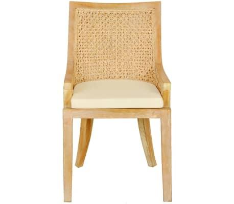 vidaXL Dining Chairs 2 pcs Rattan[3/4]