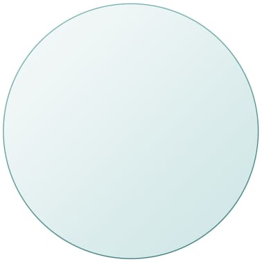 """vidaXL Table Top Tempered Glass Round 11.8""""[1/4]"""