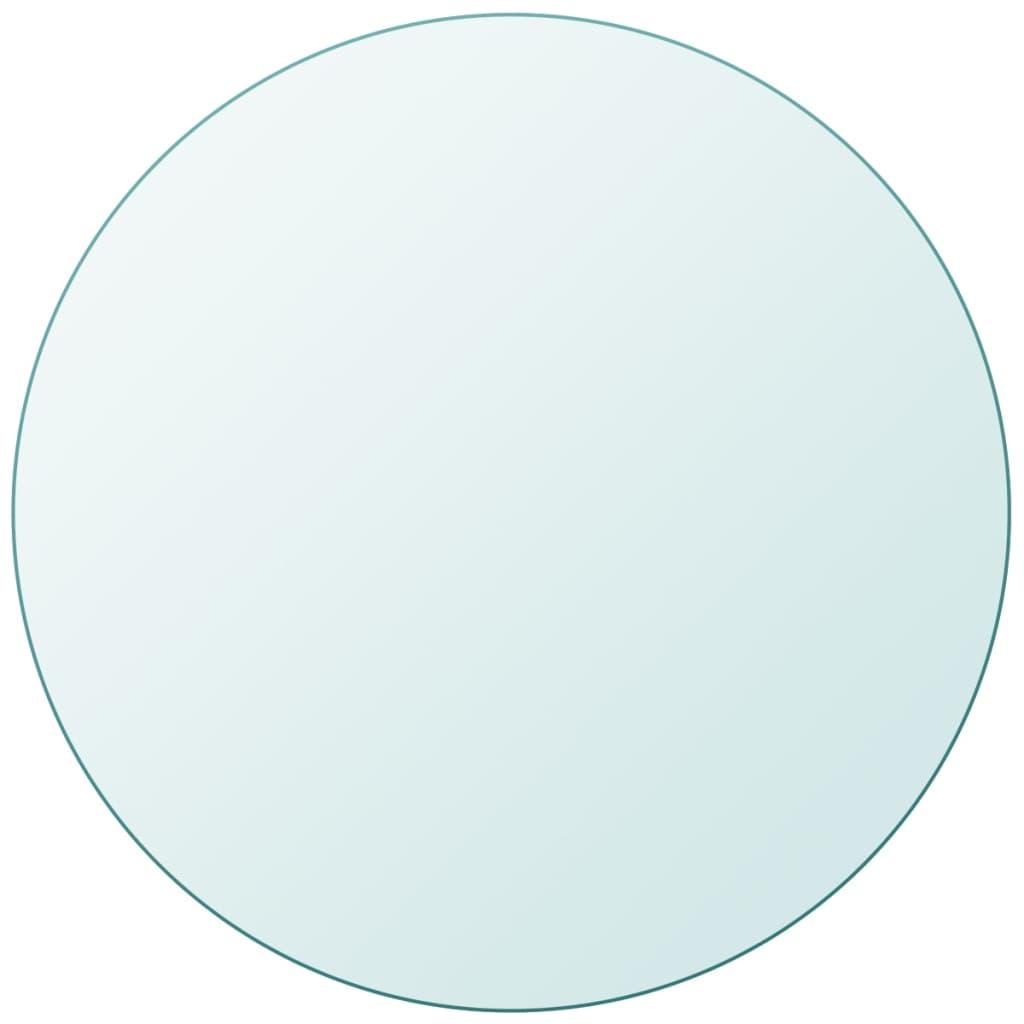 vidaXL Tafelblad van gehard glas 700 mm rond