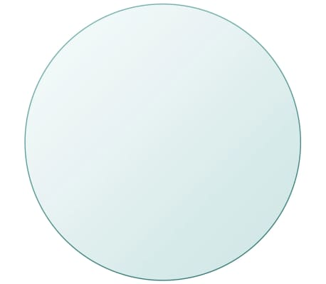 vidaXL Table Top Tempered Glass Round 27.6""