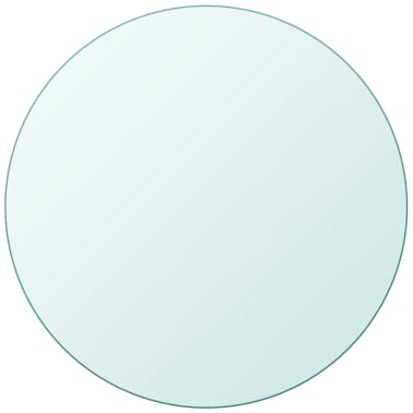 vidaXL Dessus de table ronde en verre trempé 700 mm[1/4]