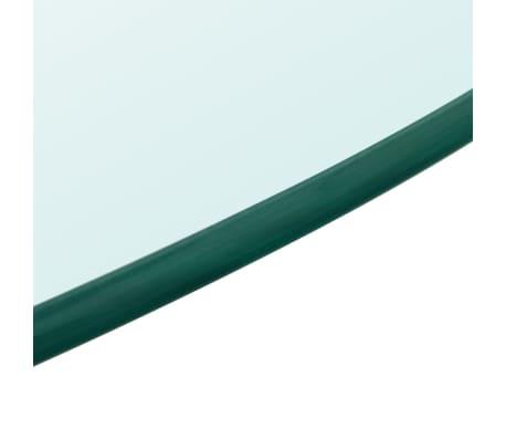 vidaXL bordplade hærdet glas rund 700 mm[3/4]