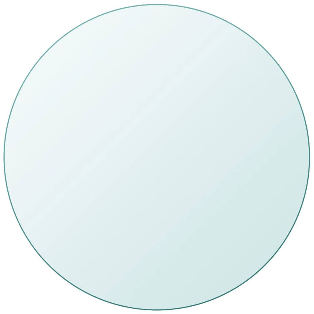 vidaXL Tafelblad van gehard glas 900 mm rond