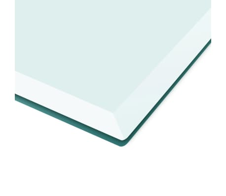 "vidaXL Table Top Tempered Glass Square 27.6""x27.6""[3/4]"