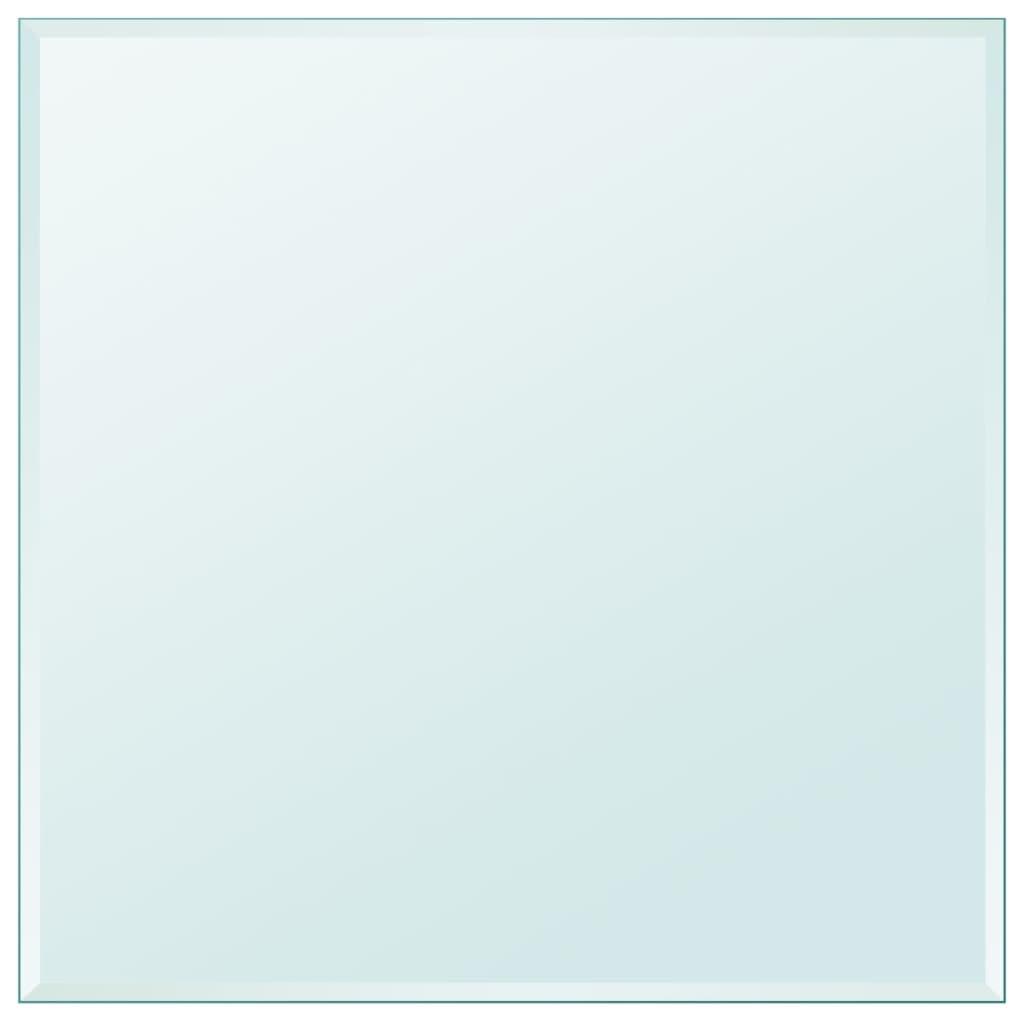 vidaXL Blat de masă din sticlă securizată pătrat 800 x 800 mm poza 2021 vidaXL
