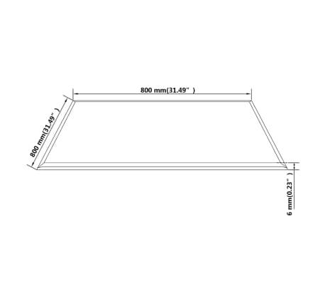 vidaXL Tablero de mesa de cristal templado cuadrado 800x800 mm[4/4]
