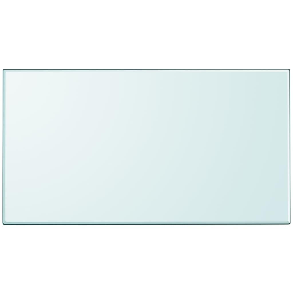 vidaXL Tafelblad van gehard glas 1200x650 mm vierkant